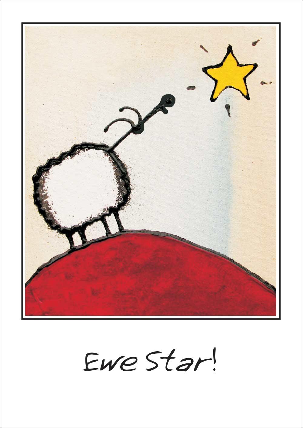 Ewe star greeting card art for ewe ewe star greeting card kristyandbryce Images