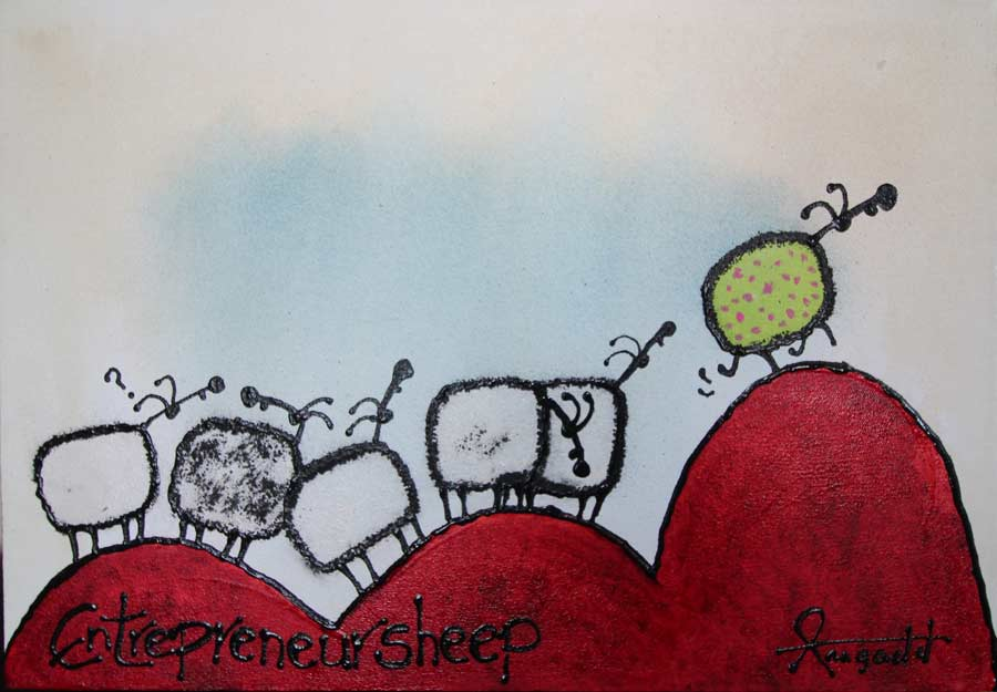 So you want to motivate yourself entrepreneur! This is the painting to inspire the next step!