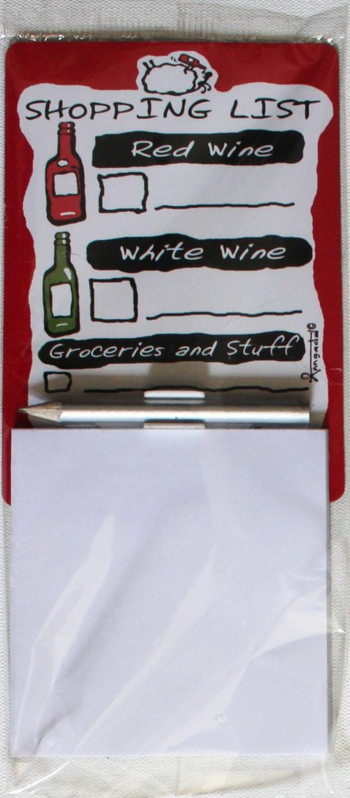 magnetic notepad wine