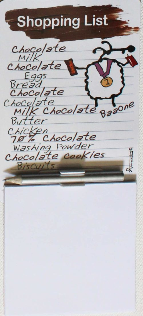 magnetic notepad for chocolate lovers