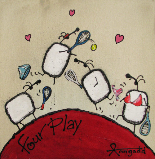 'Fourplay' Tennis playing sheep