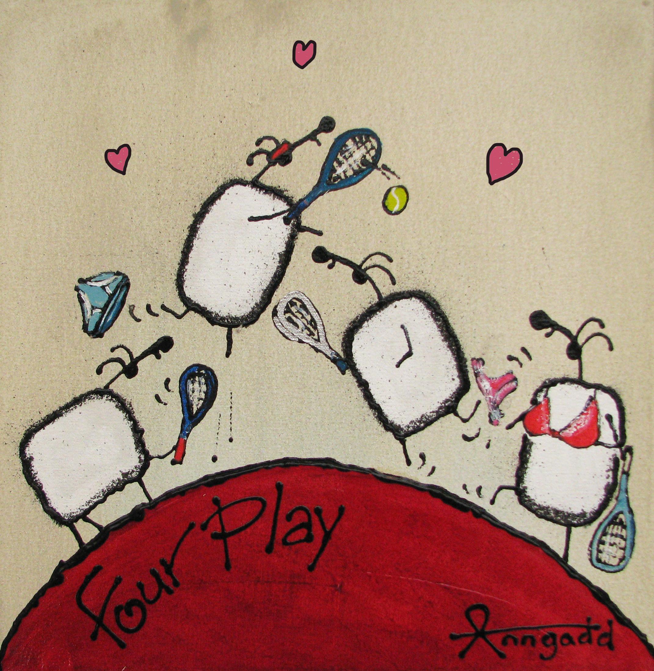 'Fourplay' Tennis playing sheep