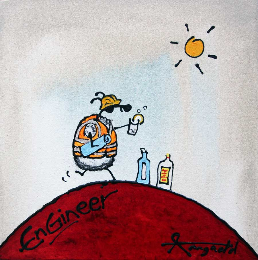 engineer painting by ann gadd