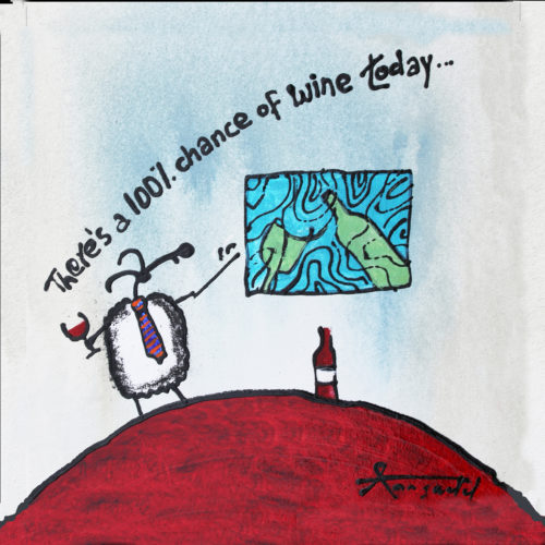 there a 100% chance of wine print by ann gadd