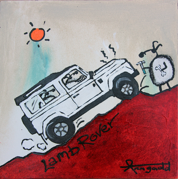 landrover painting by ann gadd